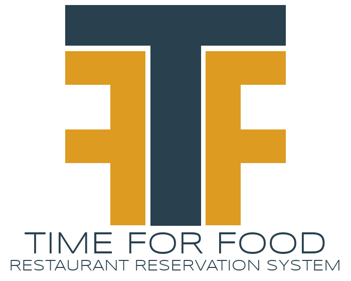Time For Food Restaurant Reservation System Logo